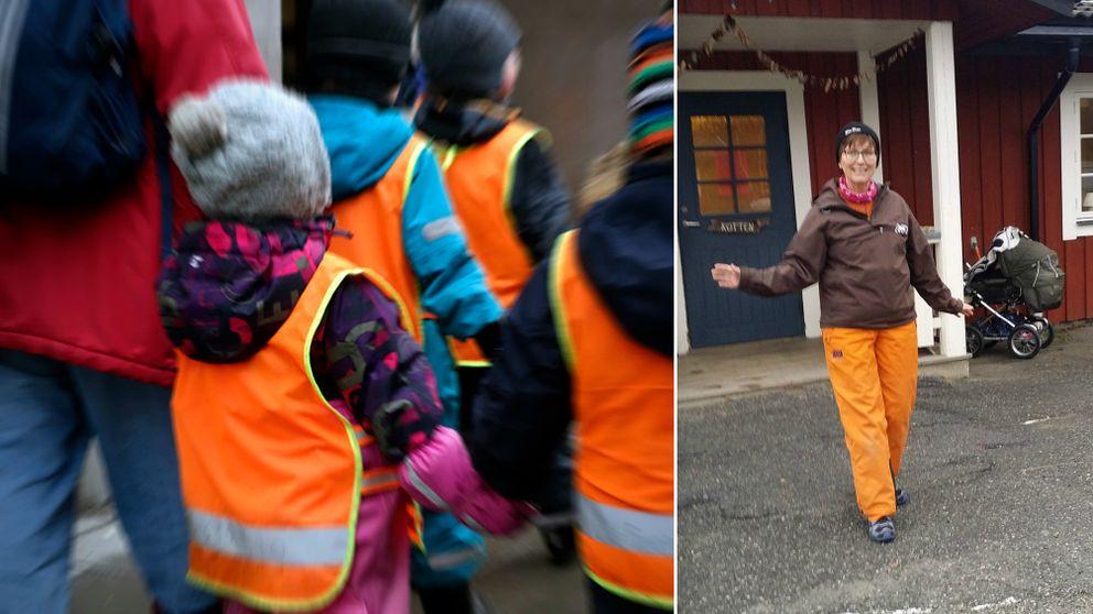 Carina Hällsten på förskola Granen i Tärnaby är glad att man snart ska få gratis arbetskläder.