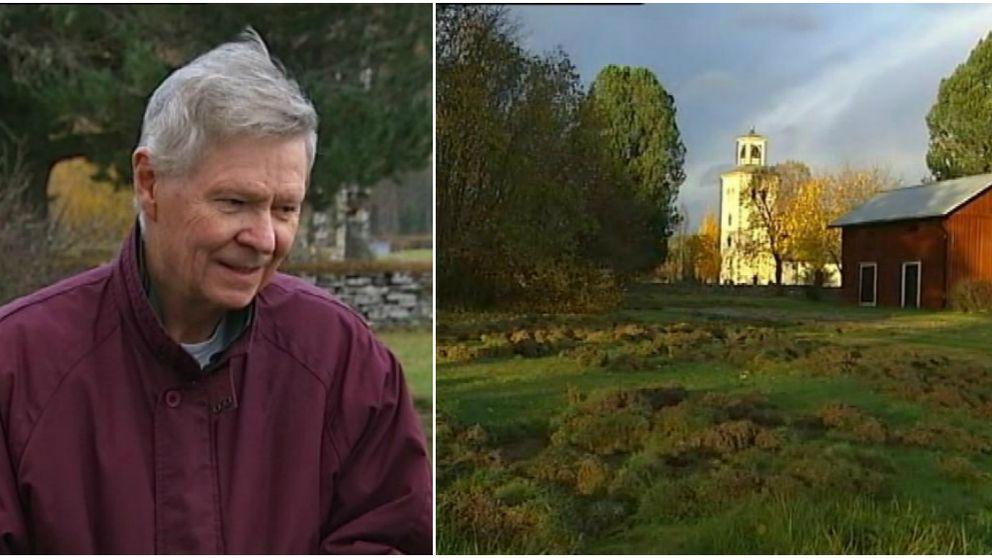 Carl-Göran Johnsons trädgård är en av de som drabbats värst