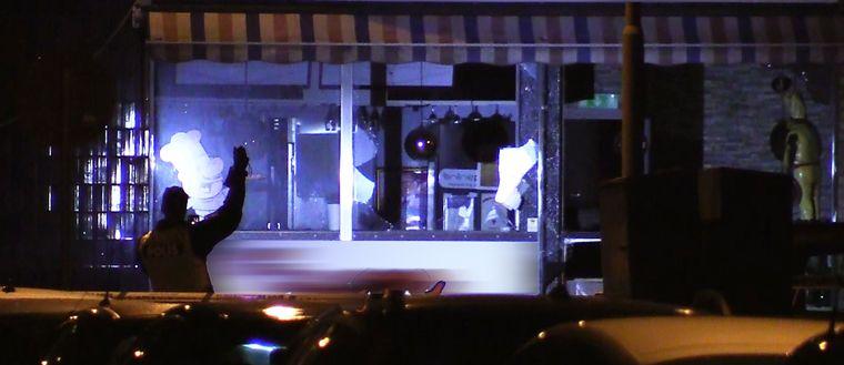 Skador efter explosionen på restaurangen i Landskrona.