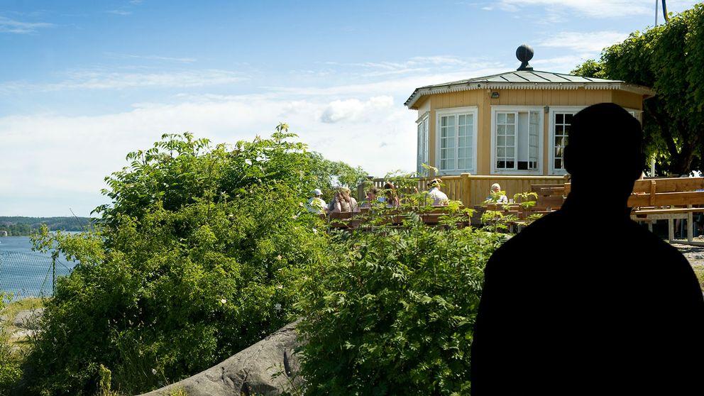 Bild från platsen med en siluett av en man.