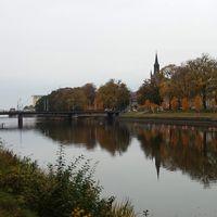 Lidköping i Västergötland en gråmulen höstdag den 18 oktober.
