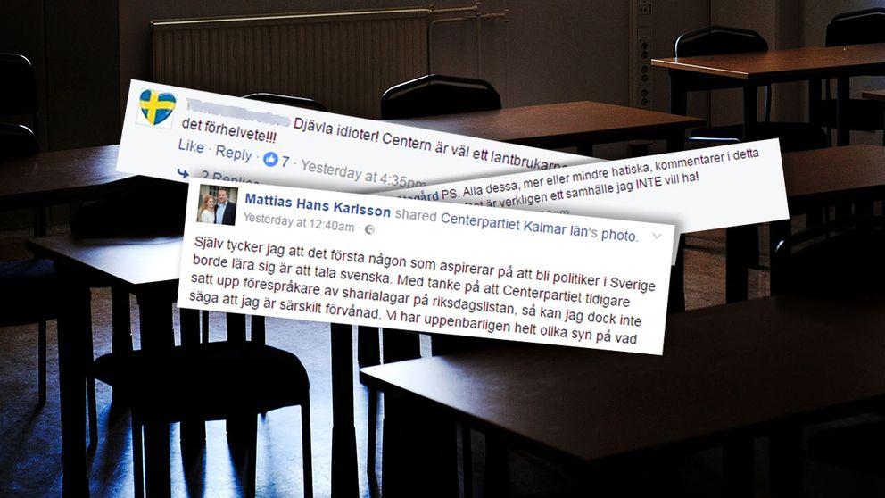 Centerpartiet upprör i sociala medier