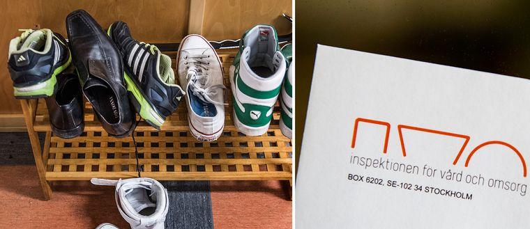 skor på skohylla, papper från IVO