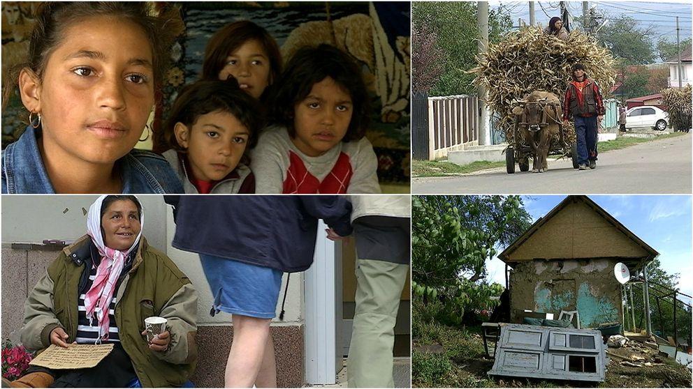 Rumänska romer, familjen kvar i Rumänien medan föräldrarna tigger i Sundsvall.