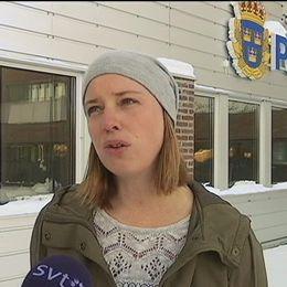 Malin Axroth, Polisen i Umeå.