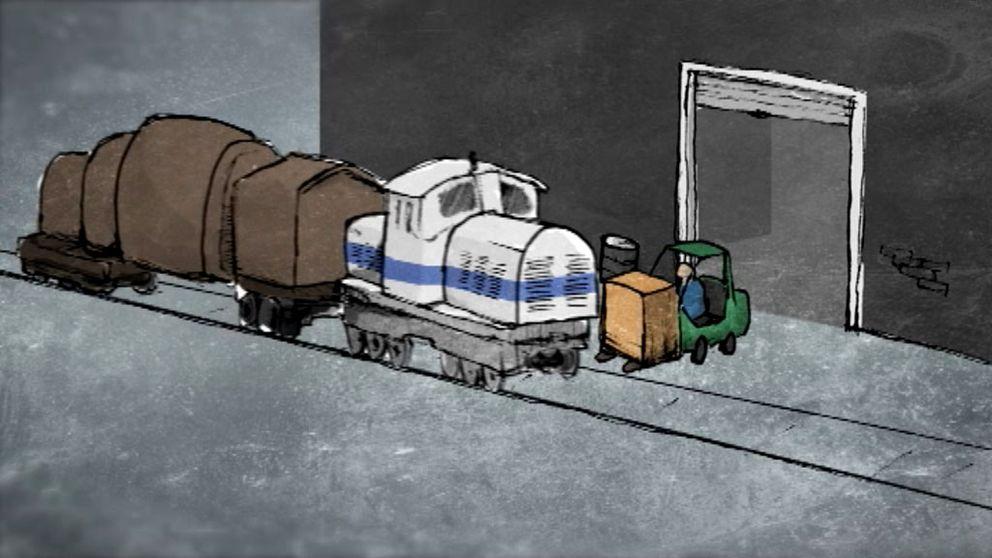 Dödsolycka på SSAB. Lok kolliderar med gaffeltruck