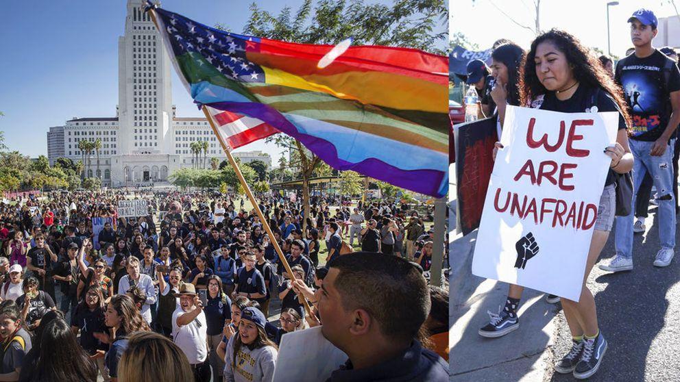 Protesterna mot Trump fortsätter