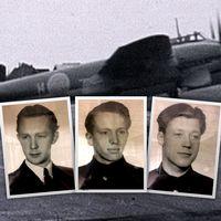 Besättningen framför den sista bilden på Röd Niklas