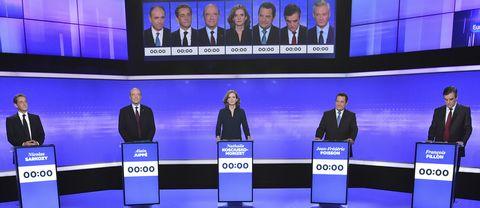 Franska presidentkandidater på högersidan