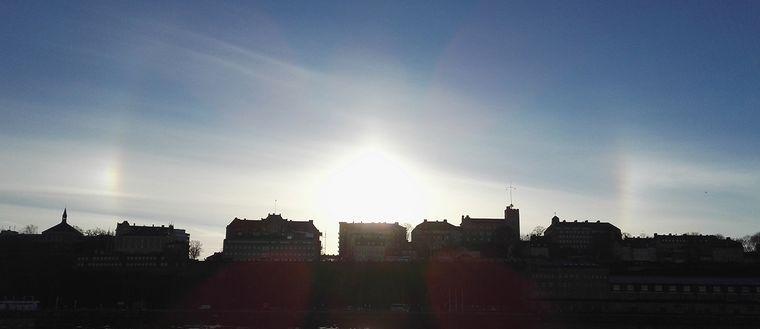 Halo över Stockholm 20 november 2016