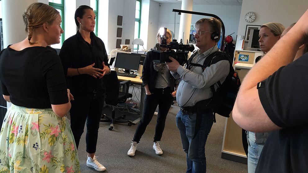 Bild från inspelningen av Öppet hus på SVT Teckenspråk
