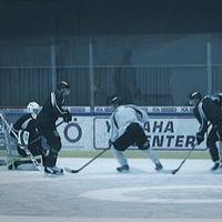 Hockeyträning i Östersunds ishall.