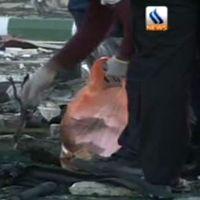En självmordsbombaren sprängde sig själv vid en tankbil på en bensinstation – runt 100 människor uppges ha dödats i attacken.