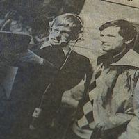 Anders Carlsson och Bengt Alsterlind i ett gammalt svartvitt tidningsurklipp