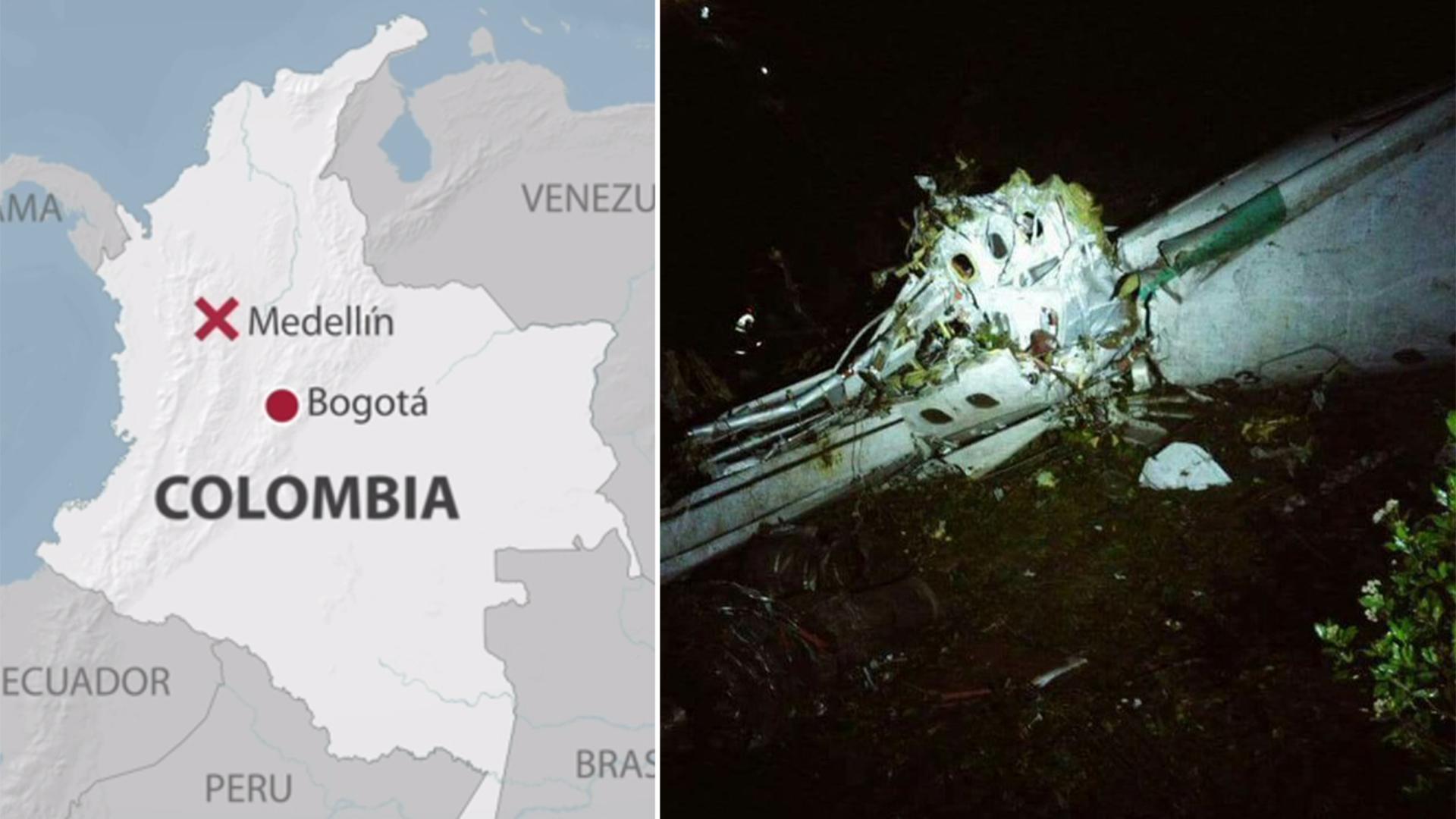 Tre doda i colombiansk flygolycka