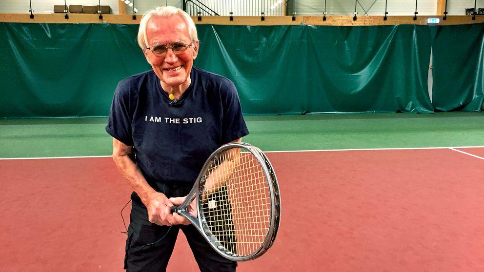 Stig Malmberg. 91 år. Tennis. Rönninge.