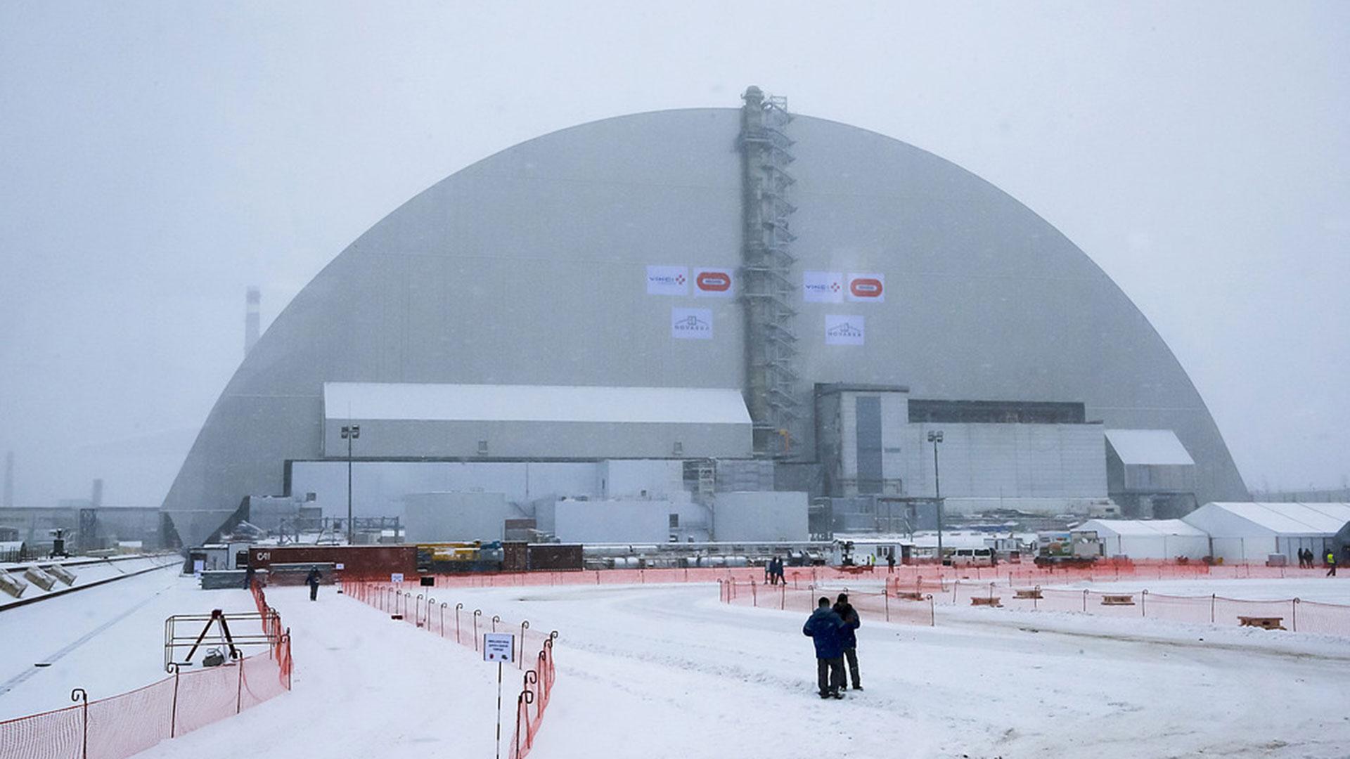 Ny sarkofag byggs i tjernobyl