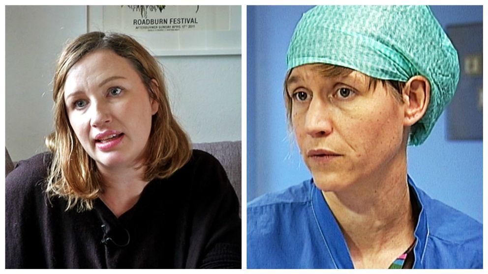 Elin Bååth och Sandra Isaksson.