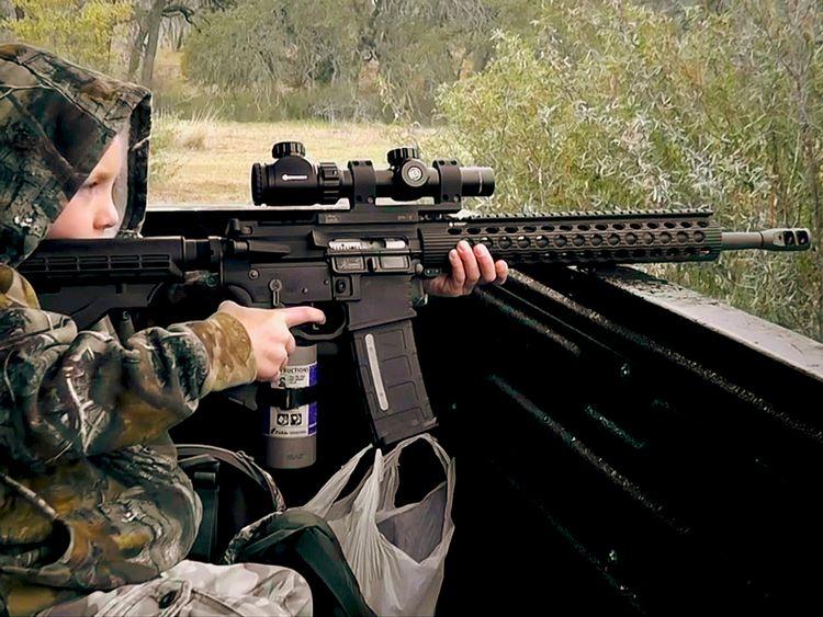 USA:s beväpnade barn