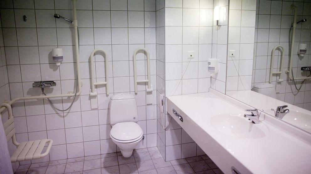 Handikappanpassad toalett.