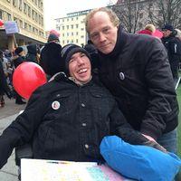 Manifestation vid Olof Palmes plats