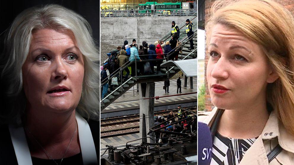 Lena Rådström Baastad och Sara Karlsson.