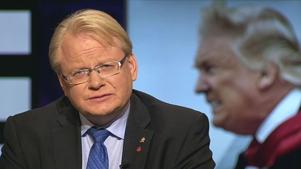 Försvarsminister Peter Hultqvist (S) i SVT:s Agenda.