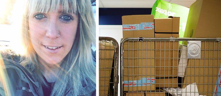 Postombudet Elin Larsson fick nog av utskällningar och bad kunderna om förståelse i sociala medier.