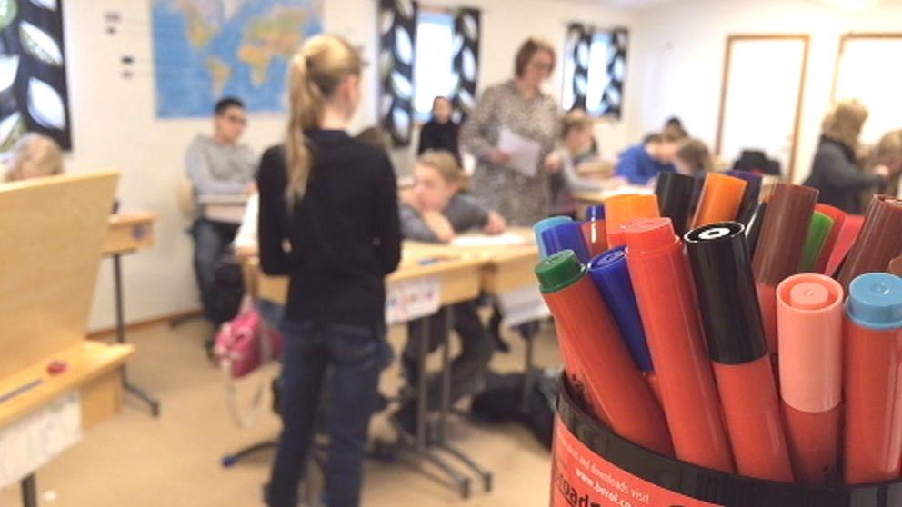 Elever i sjätte klass på Lundabyns skola