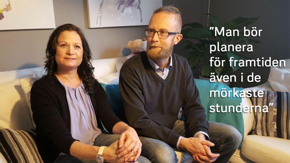 Malin Klasson och Fredrik Andersson.