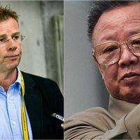 """Lars """"Osten"""" Bergström och Kim Jong-il."""