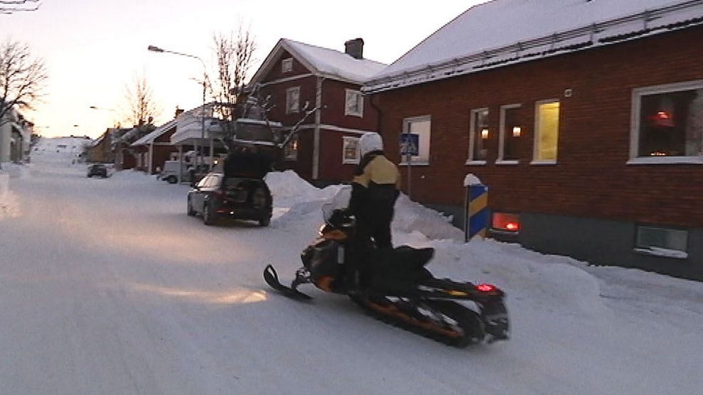 Skoteråkning i Kiruna.