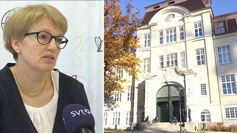 Maria Leonardsson, Täljegymnasiets rektor.
