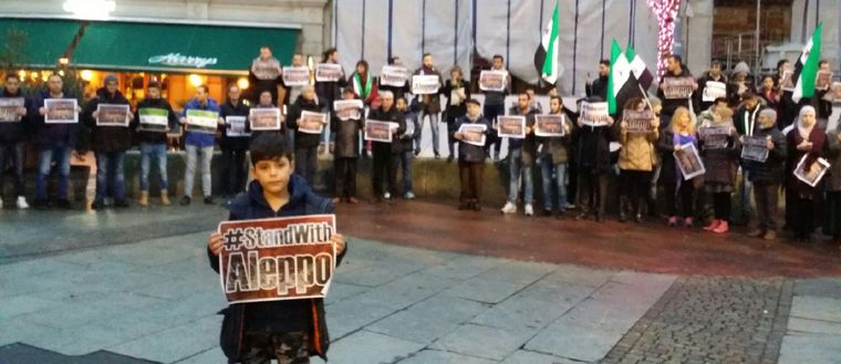 manifestation, Syrien, Aleppo, Göteborg