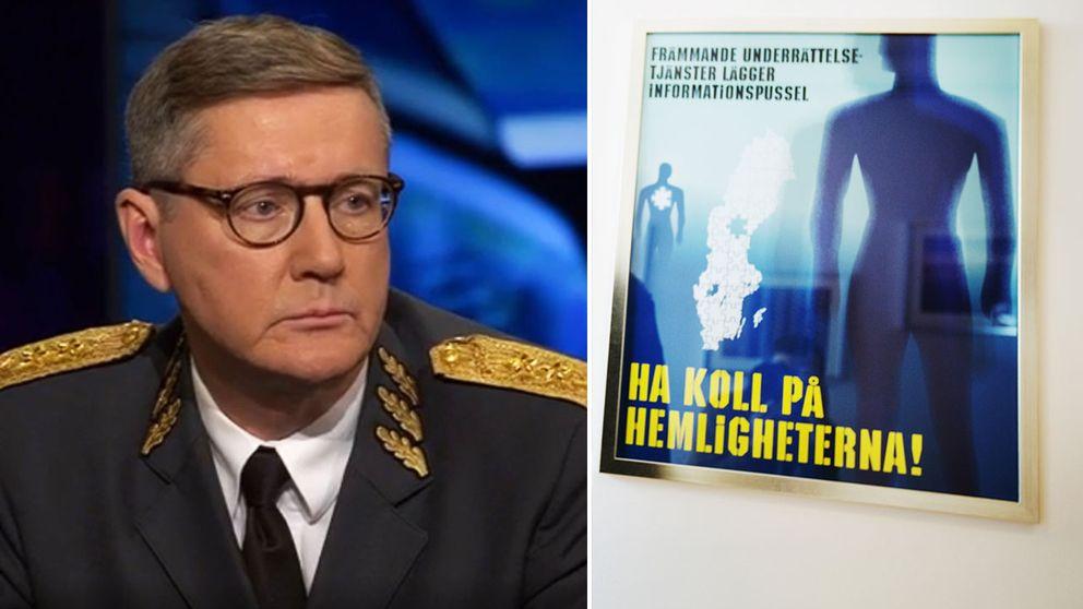 Mustchefen Gunnar Karlsson och en tavla inne på Musts kontor.