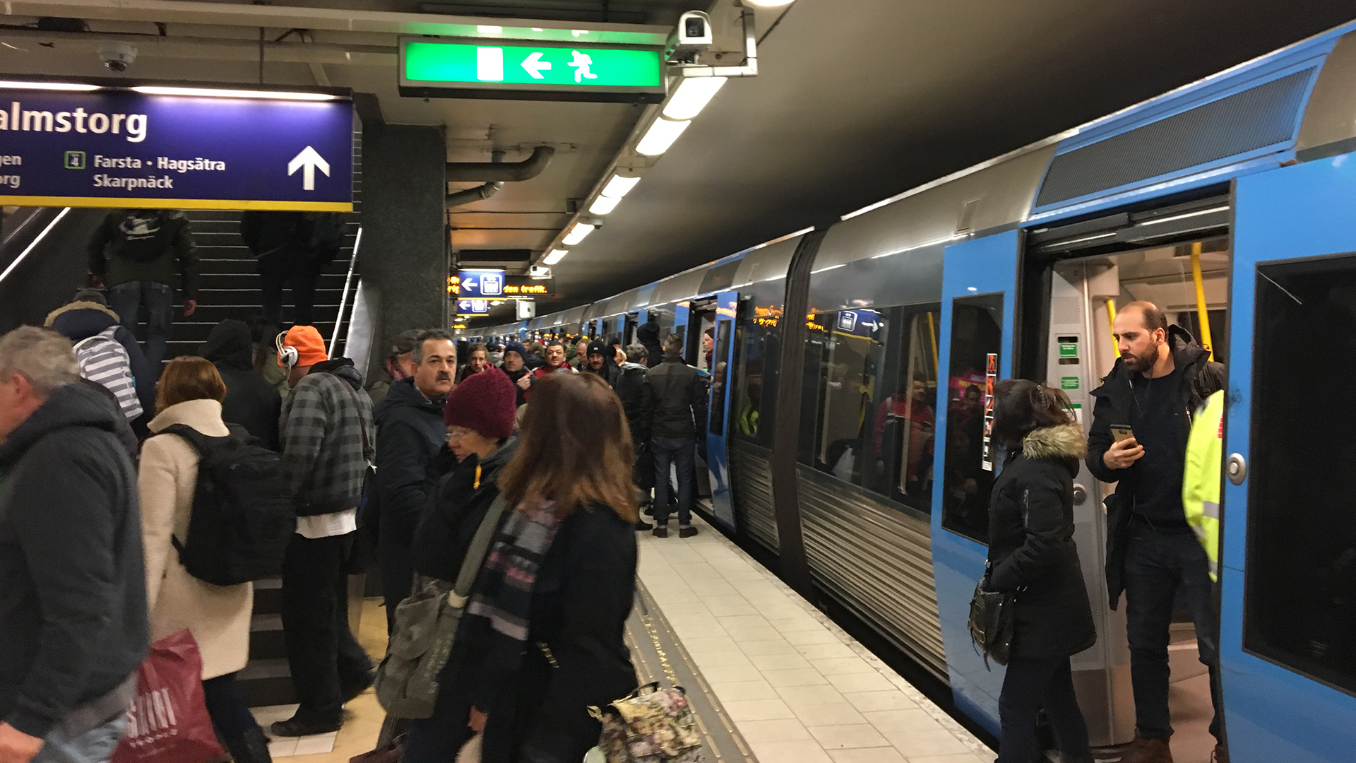 Butiksran i skarpnack forsenade tunnelbanan