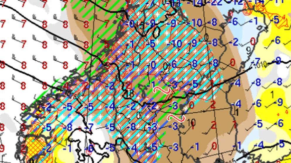Ett liggande S på meteorologens väderkarta innebär risk för underkylt regn och det i sin tur innebär HALKA.