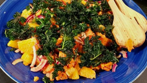 recept med sötpotatis och grönkål