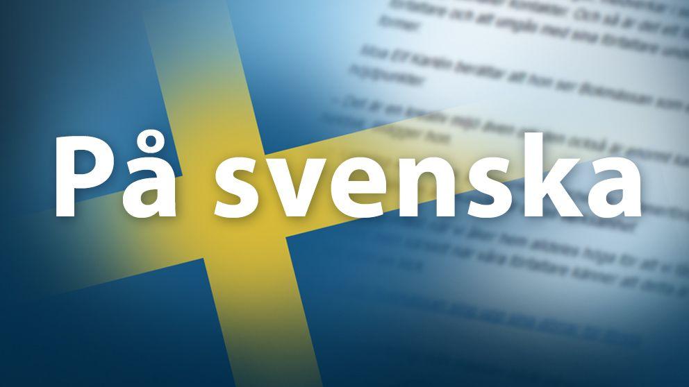 Skylt med Uutiset på svenska