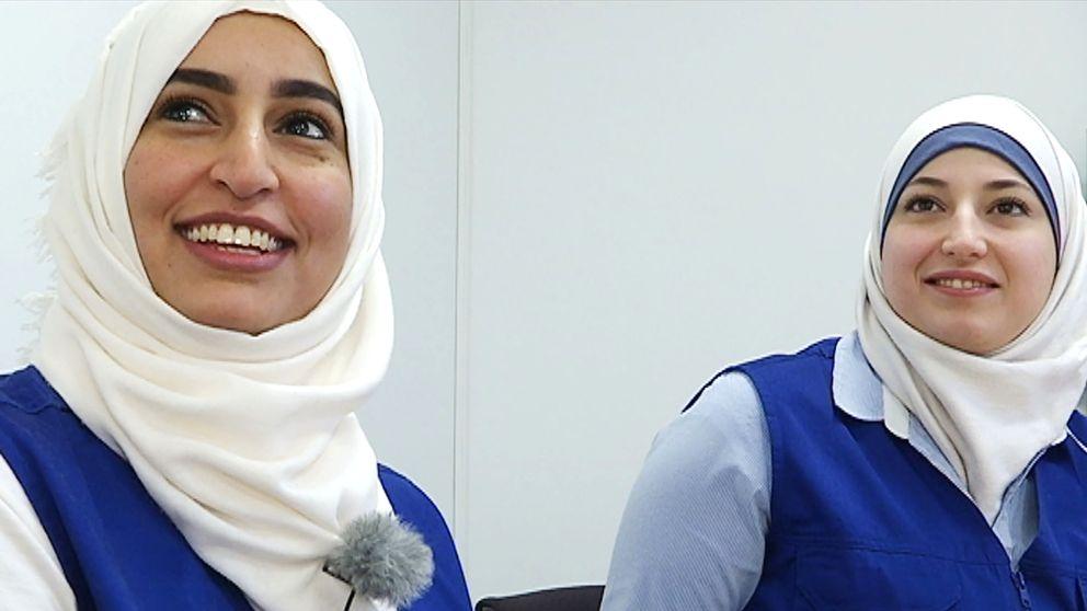 Bayan Zahraa och Samar Shekan älskar sina jobb som kulturdoulor.