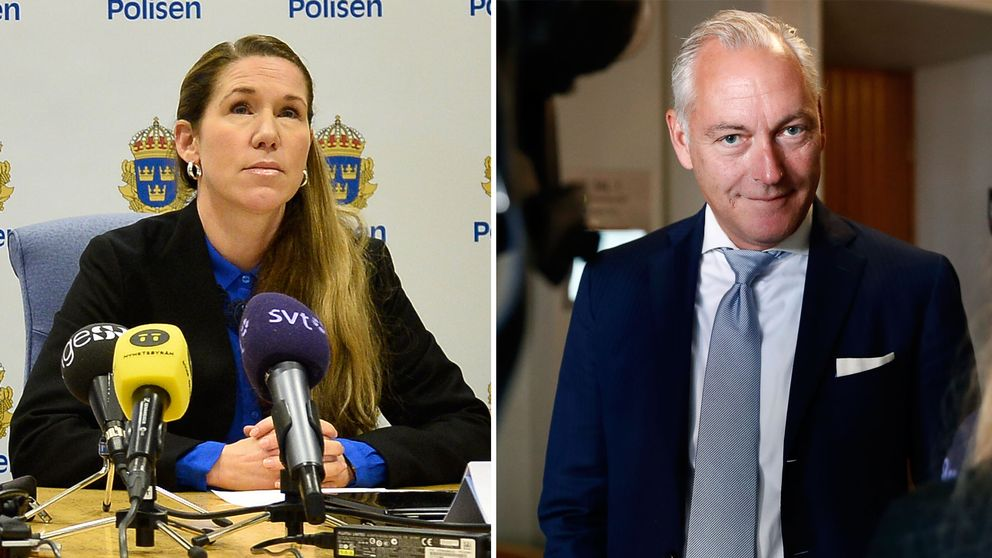Kammåklagare Linda Schön och försvarsadvokat Johan Eriksson.