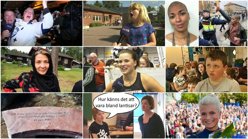 Collage över bilder från artiklar
