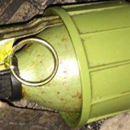 Polisen tror att handgranaten är insmugglad från forna Jugoslavien.