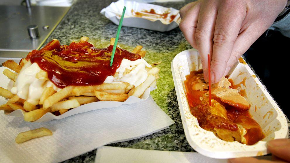 Currywürst – en snabbmatsklassiker i Tyskland.
