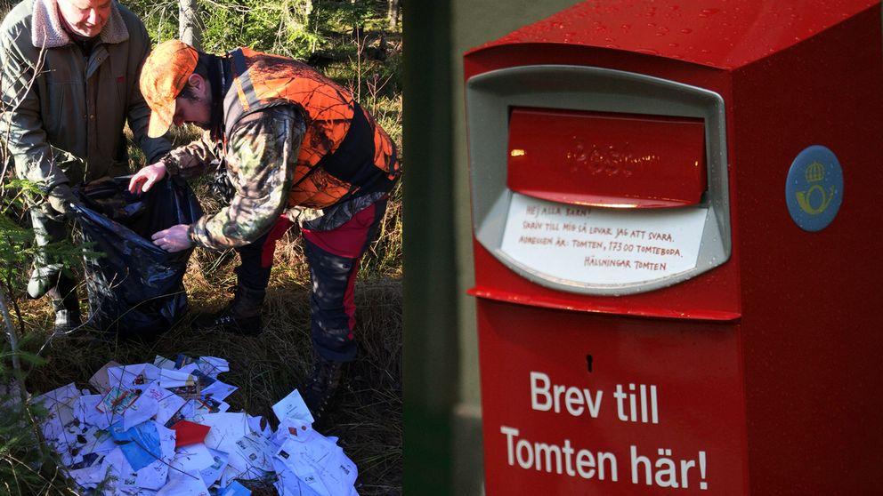 Hundratals julkort hittades i skogen