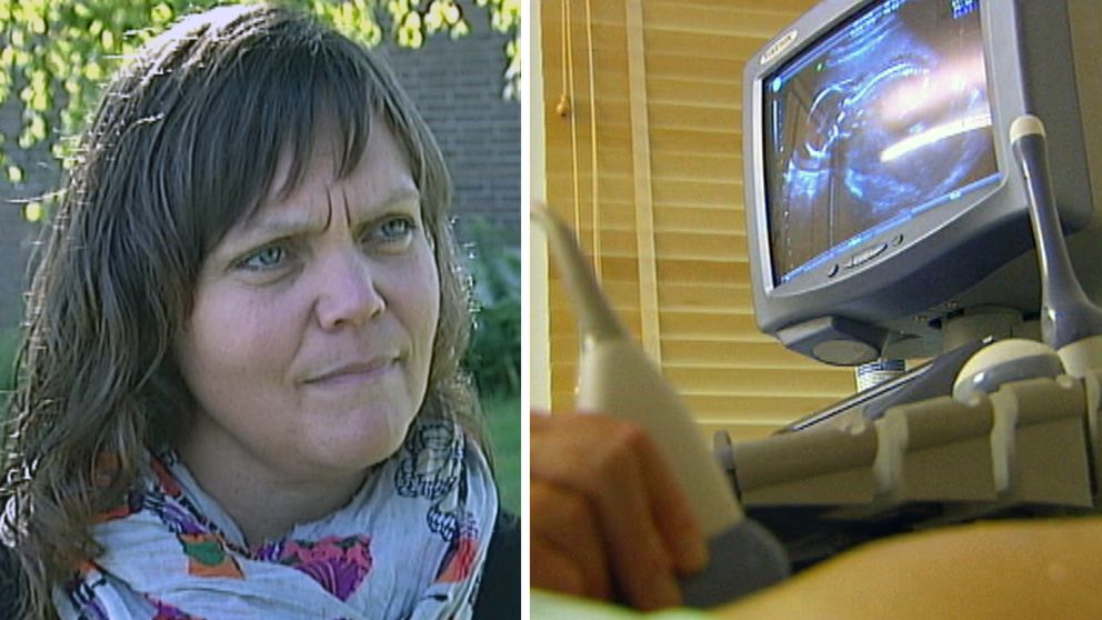 Linda Steen och en bild på ett ultraljud