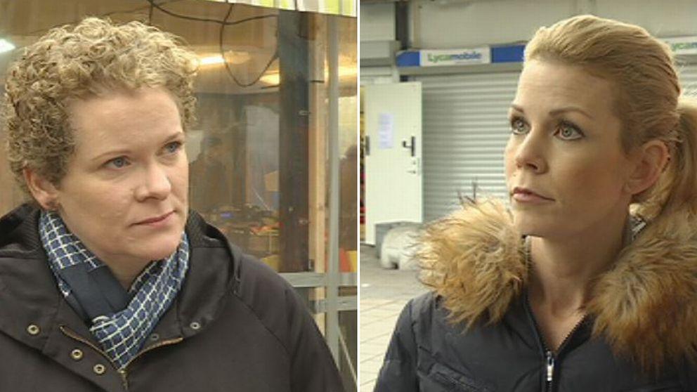 Karin Wanngård (S) och Anna König Jerlmyr (M) i Husby