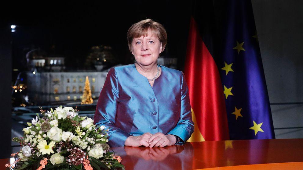 Tysklands förbundskansler Angela Merkel håller nyårstal.