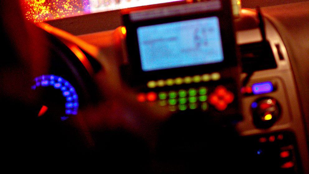 Bild inifrån en taxibil
