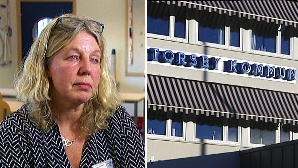 Läraren Katarina Nilsson fick hjälp i ett tidigt skede